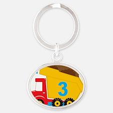 Dump Truck Im 3 Oval Keychain