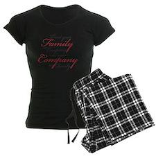 Treat Family as Company Pajamas