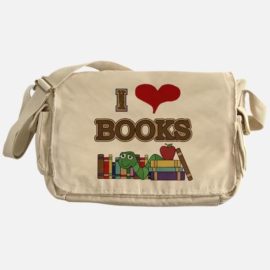 I Love Books Messenger Bag