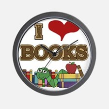 I Love Books Wall Clock