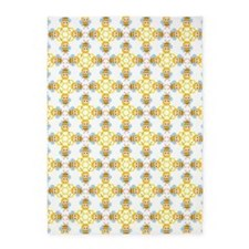 cute honey bees and honeycombs 5'x7'Area Rug