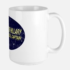 Trekkies for Hillary - its only logical Large Mug