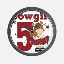 Little Cowgirl is 5 Wall Clock