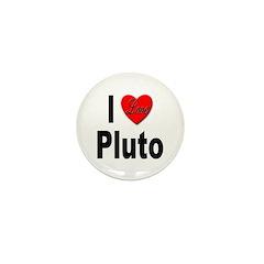 I Love Pluto Mini Button (10 pack)