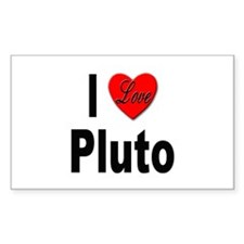 I Love Pluto Rectangle Decal