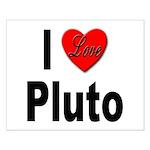 I Love Pluto Small Poster