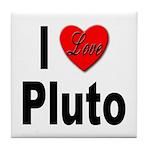 I Love Pluto Tile Coaster