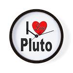 I Love Pluto Wall Clock