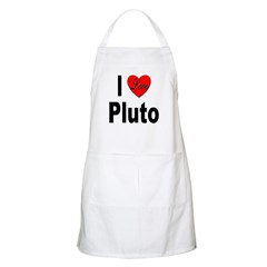 I Love Pluto BBQ Apron