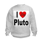 I Love Pluto Kids Sweatshirt