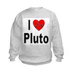 I Love Pluto (Front) Kids Sweatshirt
