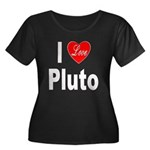 I Love Pluto (Front) Women's Plus Size Scoop Neck