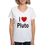 I Love Pluto Women's V-Neck T-Shirt