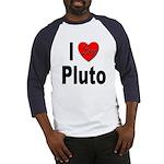 I Love Pluto (Front) Baseball Jersey