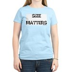 Size Matters Women's Pink T-Shirt