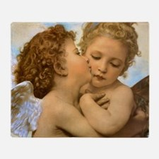 Vintage Victorian Angels, First Kiss Throw Blanket