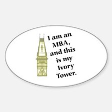MBA Ivory Tower Oval Decal