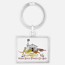 Jesus Ponies Landscape Keychain