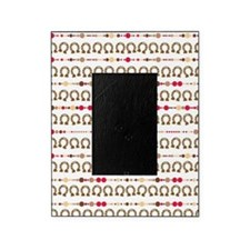 cowgirl lucky horseshoe pattern Picture Frame
