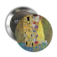 "The Kiss by Gustav Klimt, Vintage Art 2.25"" Button"
