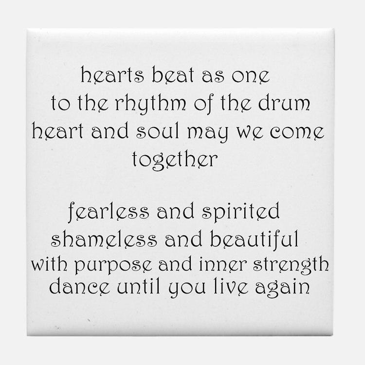 """""""Circle of Sisters chorus"""" Tile Coaster"""