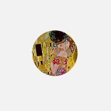 The Kiss detail, Gustav Klimt, Vintage Mini Button