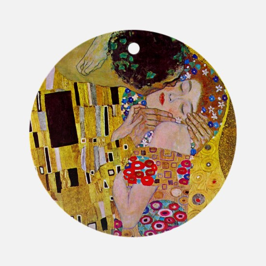 The Kiss detail, Gustav Klimt, Vint Round Ornament