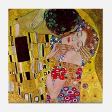 The Kiss detail, Gustav Klimt, Vintag Tile Coaster