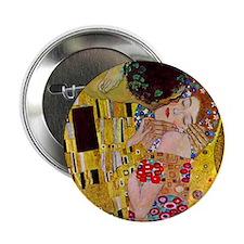 "The Kiss detail, Gustav Klimt, Vintag 2.25"" Button"