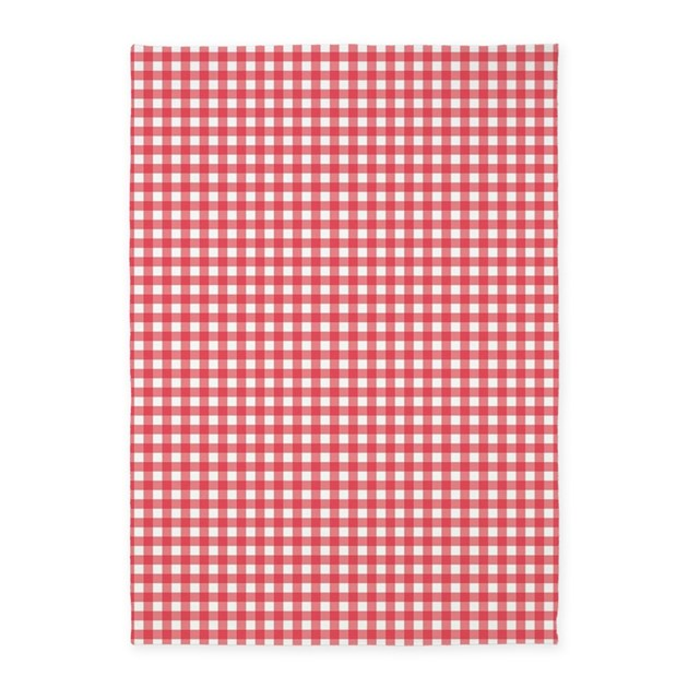 Red And White Checkered Rug: Red And White Gingham Plaid Pattern 5'x7'Area Rug By Admin