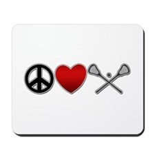 Peace Love Play Lacrosse Mousepad