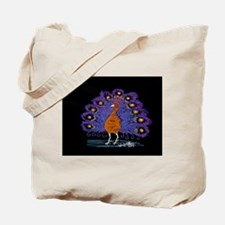 Purple Peacock by Wendy C. Allen Tote Bag