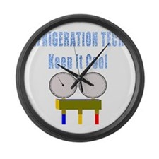 Refrigeration techs keep it cool Large Wall Clock