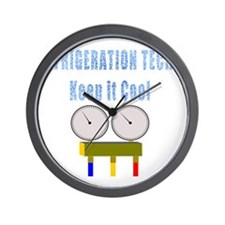 Refrigeration techs keep it cool Wall Clock
