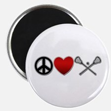 Peace Love Play Lacrosse Magnet