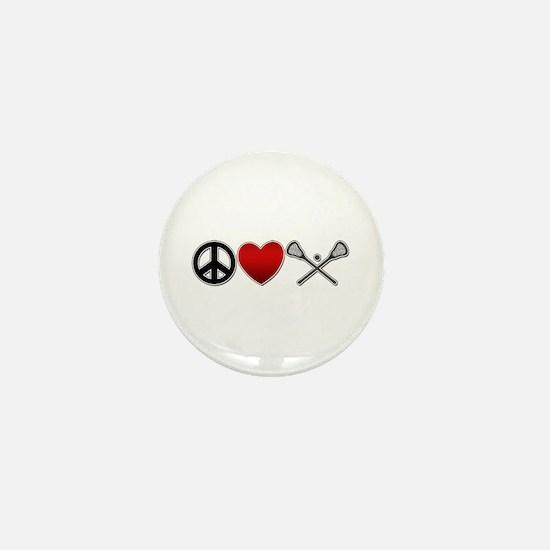 Peace Love Play Lacrosse Mini Button