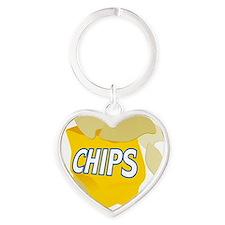 bag of potato chips Heart Keychain