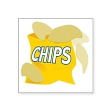 "bag of potato chips Square Sticker 3"" x 3"""