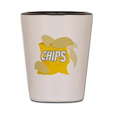 bag of potato chips Shot Glass
