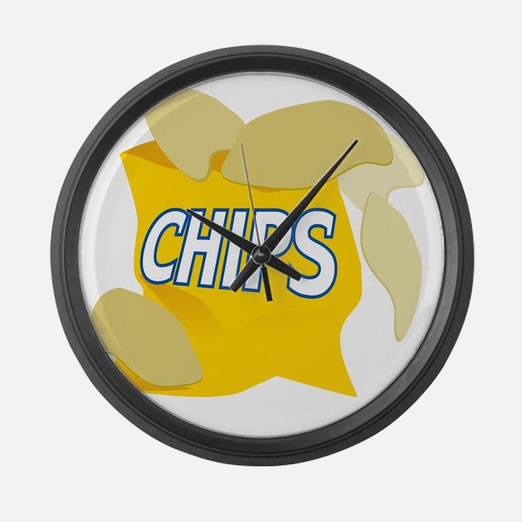 bag of potato chips Large Wall Clock