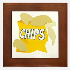 bag of potato chips Framed Tile