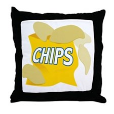 bag of potato chips Throw Pillow