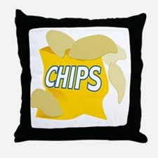 bag of potato chips Throw Pillow