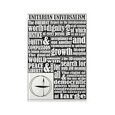 Unitarian Universalist Principles Rectangle Magnet