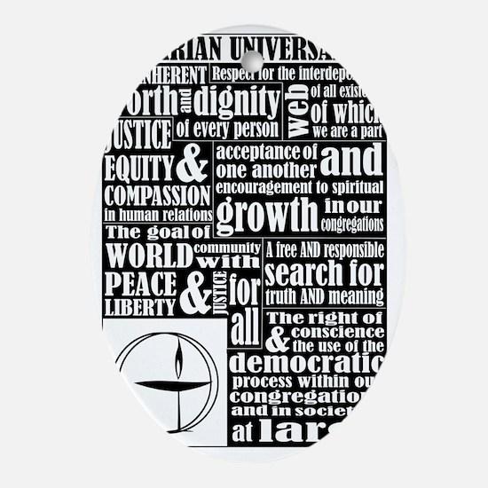 Unitarian Universalist Principles Oval Ornament