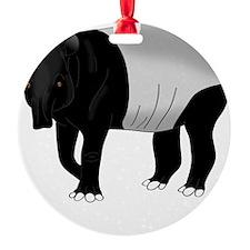 Malayan Tapir Dark Ornament