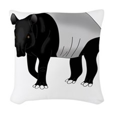 Malayan Tapir Dark Woven Throw Pillow