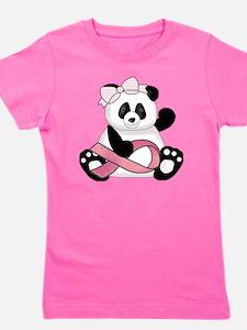 cute breast cancer pink ribbon panda gi Girl's Tee