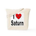 I Love Saturn Tote Bag