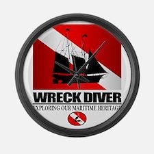Wreck Diver (Ship) 2 Large Wall Clock